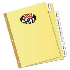 Avery Insertable Big Tab Dividers 8 tab Letter 24 Sets 072782111151