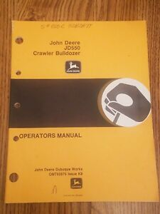 John Deere Jd550 Crawler Bulldozer Operators Manual Omt65876