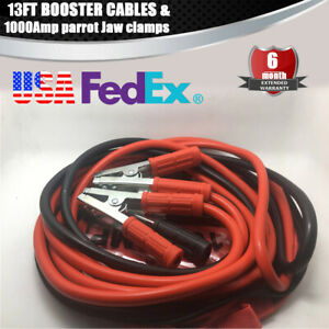 Heavy Duty 25ft Booster Cable Jumper Cables 1000 Amp Clamps For Car Van Trucks