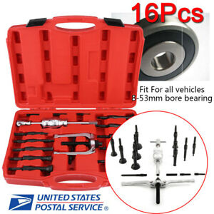 Professional 16pcs Heavy Duty Inner Bearing Extractor Puller Set Bushes Puller