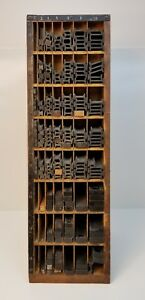 Vintage Thompson Cabinet Company Printers Furniture Letterpress Tall Holder