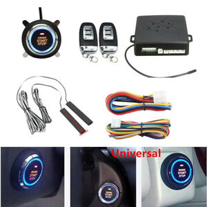 Car Alarm System Passive Keyless Entry Push Remote Engine Start Stop Universal