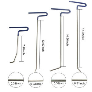 Hail Tools Paintless Dent Repair 9pcs Hook Rods Pdr Auto Body Kit Puller Removal
