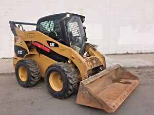 2010 Cat 272c Skid Steer Loader 2 037 Hrs Closed Cab 8 362 Lbs New Tires