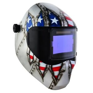 New Save Phace Rfp Welding Helmet E Series 40sq Inch Lens 4 Sensor Ripped