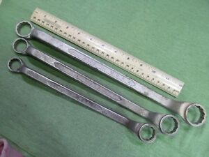 Vintage U s a Forged Select Steel 3pc Deep Offset Double Box Wrench Set