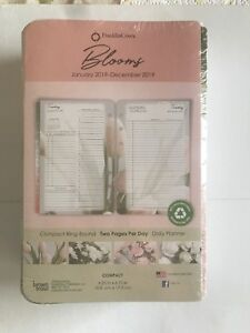 2019 Blooms Franklincovey Compact Dated Daily Planner Refill 686185 4 25x6 75in