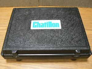 Chatillon Dfs 100 Digital Force Gauge With Attachments Battery Charger