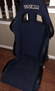 Sparco Racing Seat Without Brackets Blue