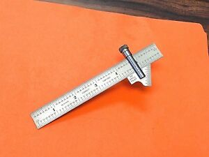 Starrett No 22 c 59 Degree Drill Point Gage With No 604r Tempered Steel Ruler