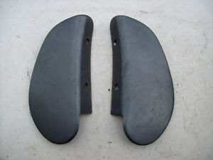 Porsche 911 964 928 968 924 944 Turbo S2 Black Seat Hinge Cover Backing Plates 2