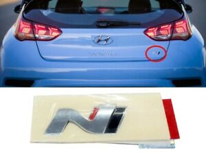 Genuine Oem N Logo Point Trunk Emblem Badge Fits Hyundai Veloster N