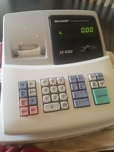 Sharp Electronic Cash Register Xe a102 W 2 Keys And No Register Key