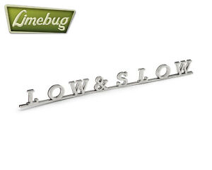 Vw Classic Low Slow Script Badge Stainless Self Adhesive Chrome Emblem Bus
