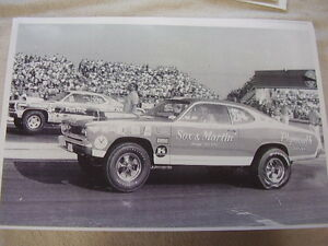 1970 Plymouth Duster Sox Martin 11 X 17 Photo Picture