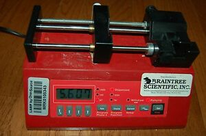 Braintree Syringe Pump Lab Laboratory Digital Control Bs 8000 Unit