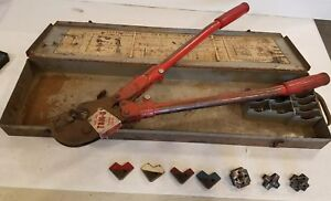 Thomas Betts Co Tbm 8 Wire Lug Crimper Hand Tool W 8 Dies In Box