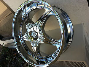 20 Inch Sovrano S5 Chrome 4 Wheels Rims 4 New Tires Fit 5 X 110