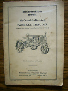 Ih Farmall Mccormick Regular Owners Manual