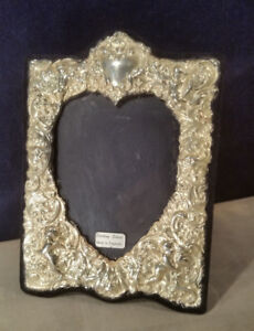 Fine English Sterling Silver Repousse Picture Frame 5 X 7