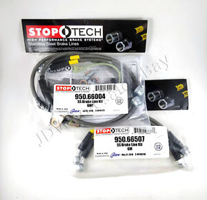 Front rear Stainless Steel Brake Line Kit For 03 07 Hummer H2 Stoptech
