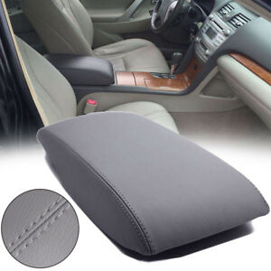 Leather Center Console Lid Armrest Cover Skin Gray For 2007 11 Toyota Camry Nice