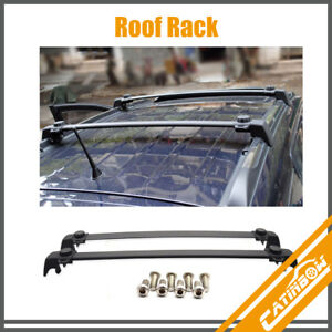 Black Aluminum Roof Rack Cross Bar Luggage Carrier For 2011 2016 Jeep Compass