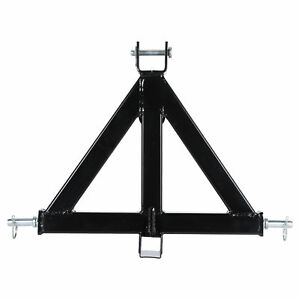 3 Point 2 Receiver Trailer Hitch Cat 1 Tractor Tow Sturdy Drawbar Pull Black