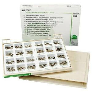 3m Espe po 96r Permanent Stainless Steel Crowns Set Dental Product Molar