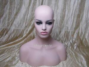 Fashion Female Fiberglass Mannequin Head Bust For Wig Jewelry And Hat Display