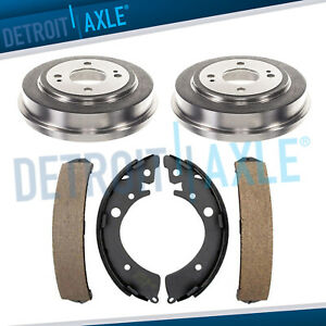 Rear Brake Drums Ceramic Shoes For 1992 1996 1997 1998 1999 2000 Honda Civic
