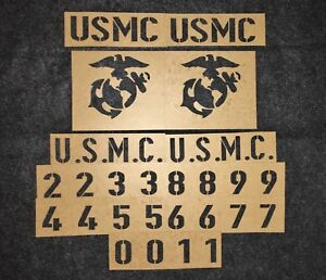 Usmc Vehicle Hood Number Stencil Set Willys Jeep Mb Gpw M151 M38a1 Us Marines