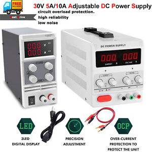 30v 15v 5a 10a Dc Power Supply Adjustable Precision Variable Digital Lab Grade