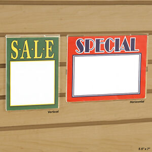 Slatwall Gridwall Acrylic Sign Holder 5 5 X 7 Horizontal Or Vertical wholesale