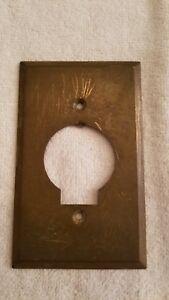 Vintage Brass Electrical Outlet Cover