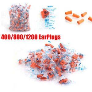 400 800 1200 Ear Plugs Soft Orange Foam Sleep Travel Noise Shooting Earplugs