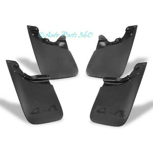 05 15 Toyota Tacoma Mud Flaps Splash Guard Mudguard Black 4pcs Front rear Combo