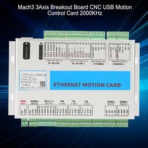 Cnc Mach3 3 axis Usb Motion Control Card Breakout Board 2000khz W cable Kit