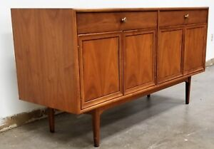 Mid Century Modern Drexel Declaration By Kipp Stewart Walnut Server Sideboard