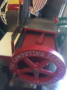 Vintage The Computing Scale Co Ohio Usa Us Meat Berckel