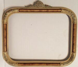 Antique Ornate White Wooden Picture Frame Vintage 11 X 14 Floral Decorative