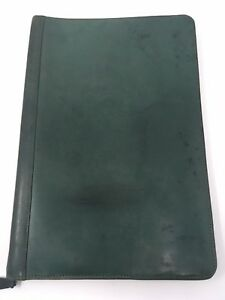 Green Leather Zippered Legal Pad Portfolio Di Angela Leather Made In Columbia