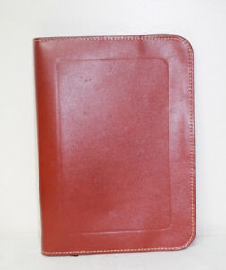 Vintage Wear Best Split Cowhide Binder Attorney s Leather Portfolio Zippered