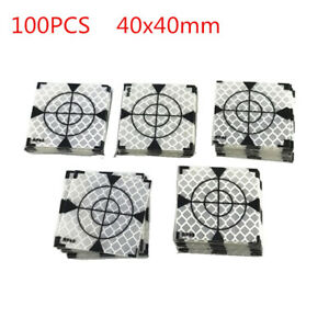 100pcs Reflector Sheet 40x40mm Reflective Tape Target For Total Station Survey