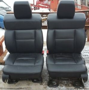 Front Rear Black Leather Seats Ford F150 Oem 2004 2005 2006 2007 2008 04 05 08