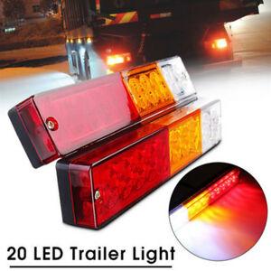 2pcs Truck Trailer 20 Led Stop Rear Tail Reverse Light Indicator Lamp 12 24v