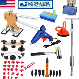 Pdr Tools Kit Puller Lifter Slide Hammer Removal Car Body Paintless Dent Repair