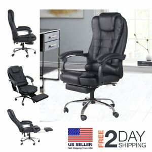 Ergonomic Executive Gaming Swivel Office Chair With Headrest Pull out Footrest