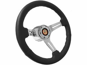 1965 1967 Ford Mustang Cobra S6 Sport Black Leather Steering Wheel Kit Gt350