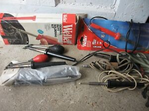Lot Of 8 Vintage Soldering Irons Weller Radio Shack Penncraft Ungar Endeco